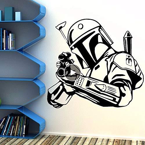 ehmbare Wandtattoo Beliebte Moive Boba Fett Wand Poster Wohnkultur Wandkunst Wandbild 62 * 57 Cm ()