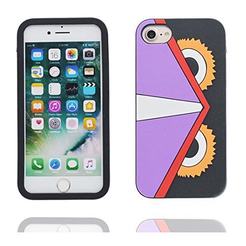 """iPhone 7 Plus Coque, 3D Cartoon poulet chick Cover iPhone 7 Plus étui (5.5 pouces) TPU souple Shell iPhone 7 Plus Case (5.5"""") poussière glissement résistant aux rayures Couleur 1"""