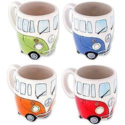 "Set de tazas ""Furgonetas"" Camper Bus Taza carro-casa"