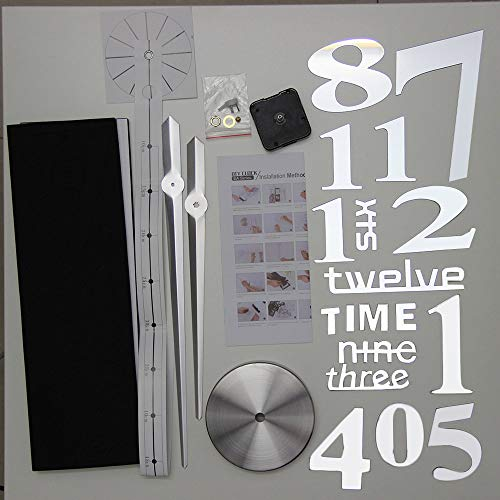 Yao Super Big DIY Clock Home Living Room Mirror Face Decorative Clock Sticker