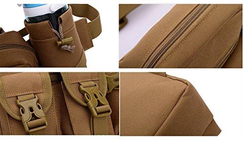 Multifunktions- Hüfttasche Militär Tragbare Wasserflasche Taille Tasche für Reisen, Außen Camping Khaki