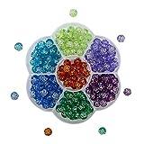 TOAOB Ozean-Thema 8mm Perlen Zum Auffädeln Kinder Aus Acryl In Rosenform Mit Silberfarben Kante Für Armbänder Kinder Schmuck Basteln 175 Pcs