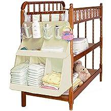 Zicac- Bolsa de Bebé/Estéreo Bolsa de Cuna para Pañales, Ropa y Juguetes - Beige