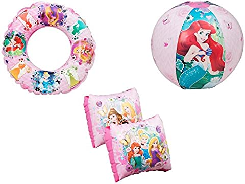 DISNEY PRINCESS BEACH BALL SWIM RING & ARM BANDS SET CHILDRENS SWIMMING KIT