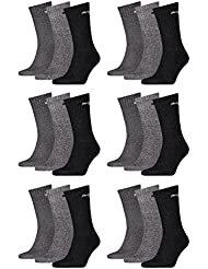 PUMA Unisex Crew Socks Socken Sportsocken MIT FROTTEESOHLE 18er Pack (Anthracite / Grey, 39-42)