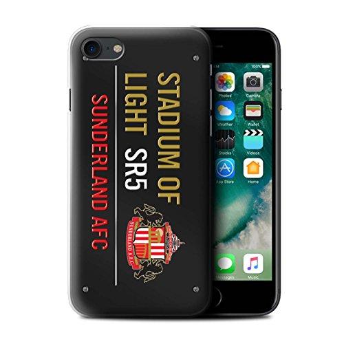 Offiziell Sunderland AFC Hülle / Case für Apple iPhone 7 / Schwarz/Gold Muster / SAFC Stadium of Light Zeichen Kollektion Schwarz/Gold