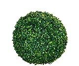 Buchsbaumkugel grün - Ø 25 cm - Garten Deko Buchsbaum Kugel künstlich Buchskugel