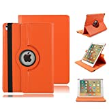 Hülle für iPad Mini 4 Apple,elecfan® 360°Grad Drehung Hülle für iPad mini 4 Ledertasche lederhülle Case Smart Cover Tasche Flip Case Cover mit Auto Wake up und Standfunktion für iPad mini 4 (iPad Mini 4, Orange)