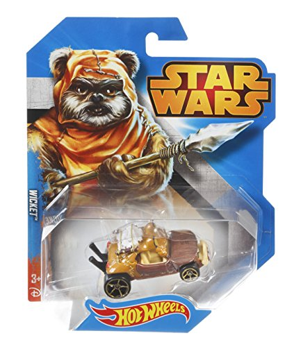 Star Wars Hot Wheels Fahrzeug Wicket - Ewock - Star Wars Fahrzeug im Maßstab 1 : 64