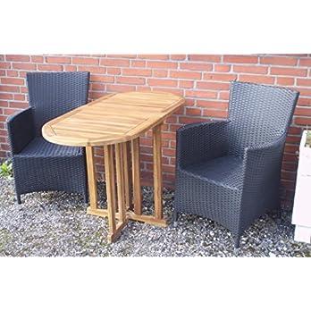 Balkon Tisch Klapp Tisch Gartentisch Beistell Tisch Bistro Tisch Teak Massiv Holz Oval 120 X 60 X 75cm Gateleg Table
