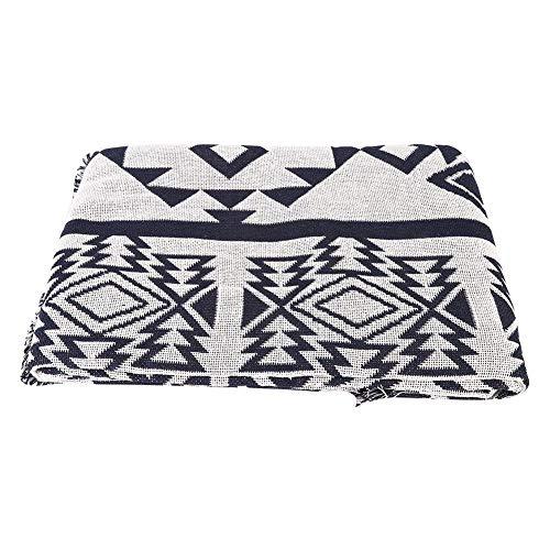 Schwarz-weiße Geometrie-Muster-Wurfs-Decke, Sofa Towel Slipcover verdicken Couch-Möbel-Fall-Teppich mit den Fransen, die Tuch kennzeichnen, das dekorative Quasten kennzeichnet(180 * 230cm) (Dekoratives Wurfs-decke Für Sofa)