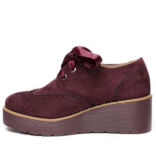 Ideal Shoes ,  Scarpe stringate donna Bordeaux