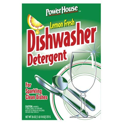 A USA Made Product PowerHouse® Dishwasher Detergent, Lemon Fresh, For Sparkling Clean Dishes 737g