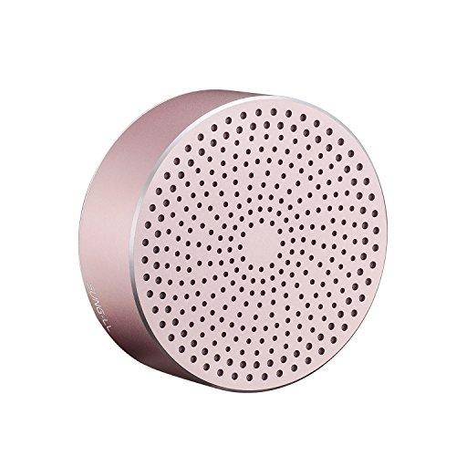 Sung-ll U8 tragbarer Mini-Bluetooth-Lautsprecher, Hosentaschengröße, kabelloser Lautsprecher aus Metall, Basslautsprecher mit eingebautem Mikrofon für iPhone, iPad, Samsung, LG, Sony Handy, Laptop, PC Mini Laptop Lautsprecher