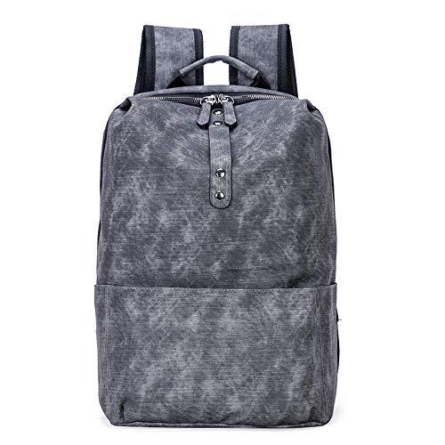 DCRYWRX Große Kapazität PU Reisetasche Leichte Schulter Daypack Für 15,6-Zoll-Laptops Weekender Travel Business Mehrzweck-Student Tasche,Gray - Rolling Weekender