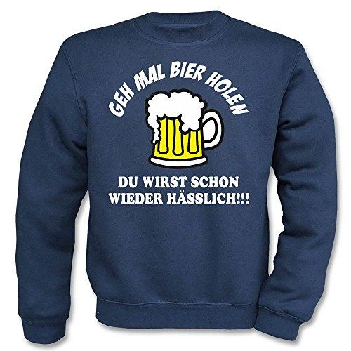 Pullover - Geh mal Bier holen Navy