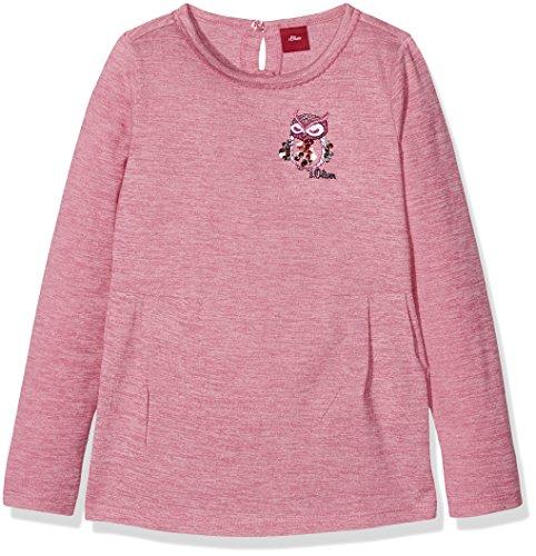 s.Oliver Mädchen Langarmshirt 53.710.31.7555, Rosa (Pink Multicolor Stripes 44S3), 128 (Herstellergröße: 128/134) (Color Mädchen Multi Shirt)
