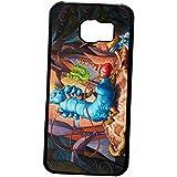 Case Protective Cover,Alice In Wonderland Hookah Caterpillar Case Funda Samsung Galaxy S6