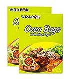 WRAPOK Bolsas para horno de cocina para la carne de pollo de Turquía Carne de aves de corral Pescado Vegetal de mariscos - 16 bolsas (10 x 15 pulgadas)