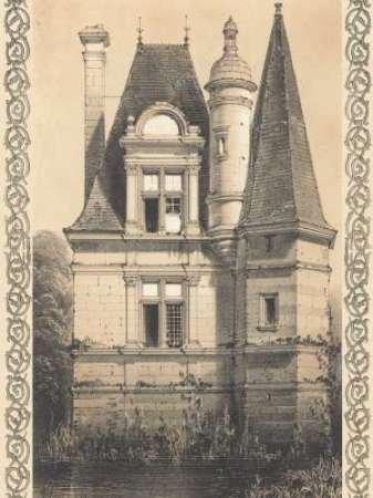 Bordeaux Chateau IV par Firmin d'Amiens Cassas, Louis–Fine Art Print Disponible sur papier et toile, Toile, SMALL (9 x 12 Inches )