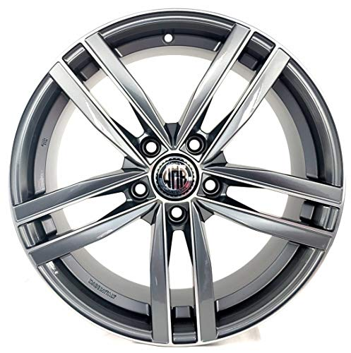 DARK AD 1 CERCHIO IN LEGA 7,5J 17 5X112 ET45 66,5 PER AUDI A3 A4 Q2 VOLKSWAGEN GOLF 5 6 7 PASSAT MERCEDES CLASSE A MADE IN ITALY