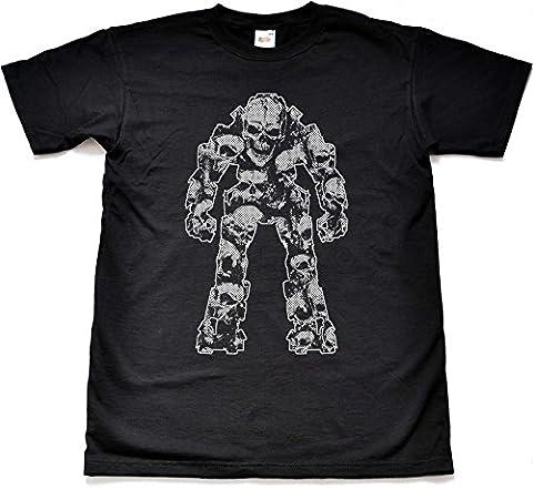 Titan Tod Schädel Schwarz T shirt T shirt Kind große 12-13 Jahre