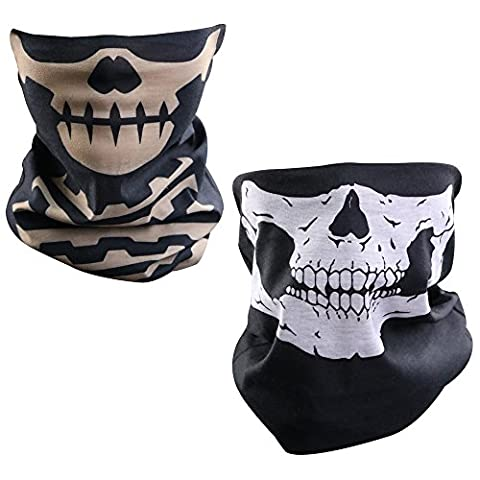 Lmeno Windproof Stretchable Skull Face Mask Neck Warmer scarf Ski