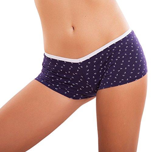 Toocool - Slip donna culotte intimo lingerie orme basic tutti i giorni sexy nuovo AF9187 Blu