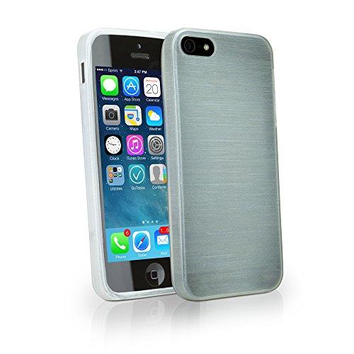 iPhone 5S Fall, BoxWave® [glasbläsereien Crystal Slip] glänzend, flexibel, Low Profile Schutzhülle für Apple iPhone 5S, SE, 5-Mondstein - Low-profile-slip