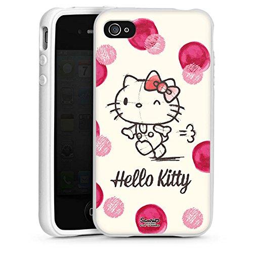 DeinDesign Silikon Hülle kompatibel mit Apple iPhone 4 Case Schutzhülle Hello Kitty Fanartikel Merchandise Fan Article Merchandise