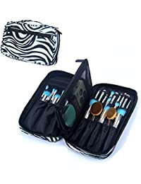 Travelmall Makeup Brush Case Fashionable Zebra Makeup Bag Organizer For Travel Professional Makeup Brush Holders...