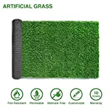LITA Premium Synthetic Artificial Grass Turf 10mm Pile Height, High Density Fake Faux