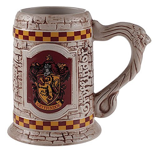 Wizarding World of Harry Potter : Sculpted Ceramic Gryffindor Stein Mug Cup...