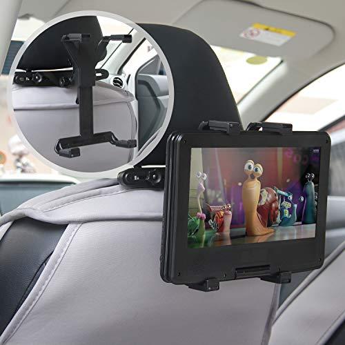MAYOGA Auto Kopfstütze Halterung Halter Auto Kopfstützenhalterung Tablet Halterung, 360 ° verstellbare Auto Rücksitz Kopfstütze Verlängerung Halterung für alle 7-12 Zoll iPad, Tabletten, DVD-Player -