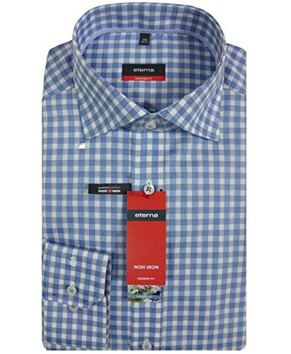 Camicia da uomo a maniche lunghe modern fit Blu