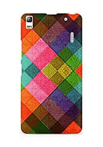 Amez designer printed 3d premium high quality back case cover for Lenovo K3 Note (Multicolored Diamonds Pattern Abstract)