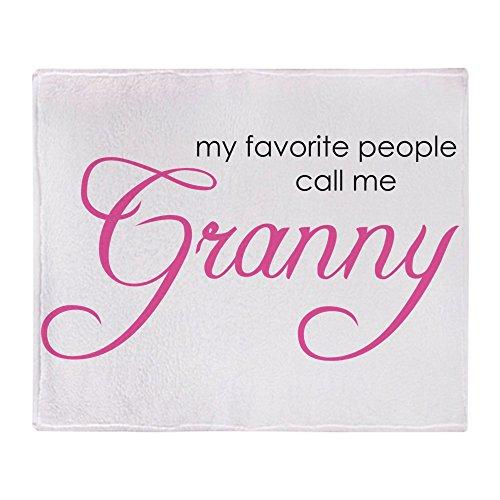 CafePress Favorite People Call Me Grann Überwurfdecke 50x60 weiß