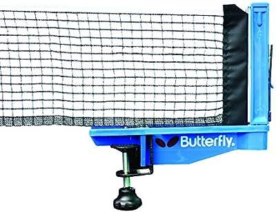 Butterfly Europa - Set de red y soportes para tenis de mesa, color azul