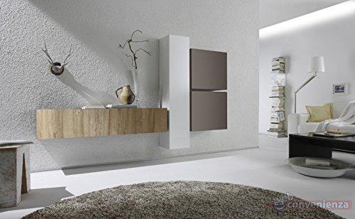 Web Convenienza Cube 3 M Rovere Miele Bianco Lucido e Beige Opaco ...