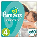 Pampers - Baby Dry - Couches Taille 4 (9-14 kg) - Pack Value+ (x60 couches)