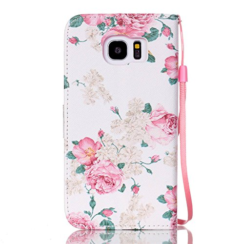 Nancen Apple iPhone 7 / 8 hülle, Flip Case Wallet Cover with Stand Function, Folio Bookstyle Handytasche Soft Silikon Bunte Muster Lederhülle Tasche PU Leder Slim Backcover Shell Handyhülle. Rose