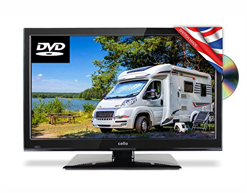 Cello C22230F-Traveller 22-Inch Full HD Traveller 12 V TV with DVD and Satellite Tuner - Black