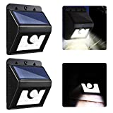 Solar Powered Security Lights, URPIRE 8 LEDs 3-in-1 Bright Outdoor Solar Lights with Motion Sensor Wireless IP64 Waterproof Wall Lights for Garden Driveway Patio Path Yard Deck ( Pack of 2 )