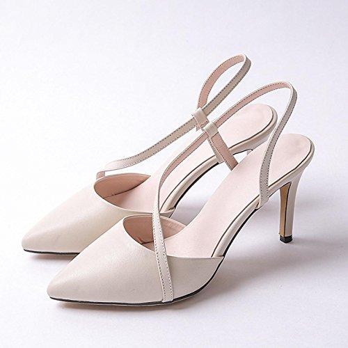 WSS chaussures à talon haut Jeune coréenne très bien avec les sandales Chaussures simple meters white
