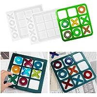 Iriisy Molde de resina de silicona,para juego de ajedrez pequeño, molde de epoxi de cristal,para juegos de mesa para adultos/niños, interior/exterior