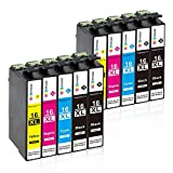GPC Image 16XL Druckerpatronen Ersatz für Epson 16 XL Kompatibel für Epson Workforce WF-2630 WF-2760 WF-2660 WF-2510 WF-2650 WF-2750 WF-2010 Tinten Patronen (4 Schwarz, 2 Cyan, 2 Magenta, 2 Gelb)