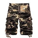 ZIXINGA Pantaloncini Cargo mimetici per Pantaloncini Casual Estivi da Uomo Pantaloni Multi Tasche da Esterno Pantaloni Corti da Lavoro Stile Militare