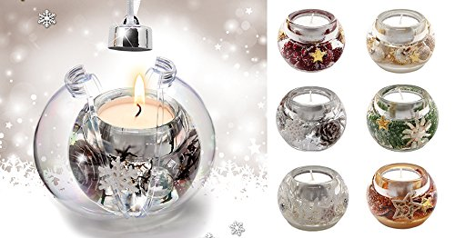 Gilde Dream Baumkugel Mercur Mini Dekora,Angelo,Winterd.Winter S.Rays.Ch.B. L= 7 cm B= 7 cm H= 5cm cm