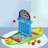Gioco di Flipper per Bambini Doppio Giocattoli educativi interattivi Giocattoli di plastica per biglie di Sicurezza per Bambini