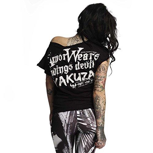 Yakuza Original Damen Armor Wears Knot Shirt Schwarz